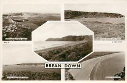 BREAN DOWN 5 insets UPHILL FROM BREAN DOWN/ BREAN DOWN EAST POINT/ W-S-M FROM BREAN DOWN/ BREAN DOWN BAY