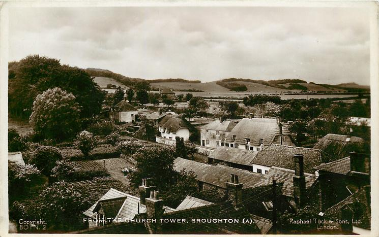 FROM THE CHURCH TOWER. BROUGHTON (A)