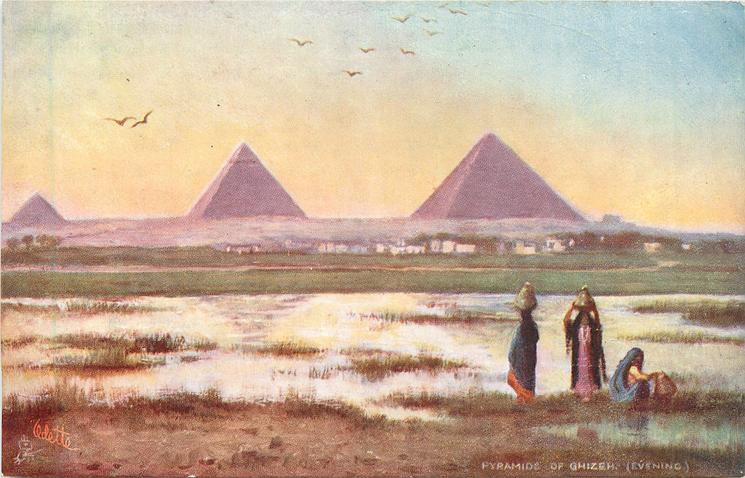 PYRAMIDS OF GHIZEH (EVENING)