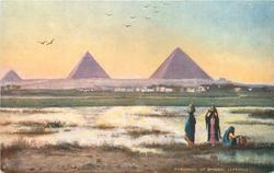 PYRAMIDS OF GHIZEH, EVENING