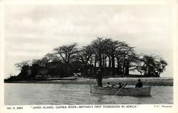 JAMES ISLAND, GAMBIA RIVER--BRITAIN'S FIRST POSSESSION IN AFRICA