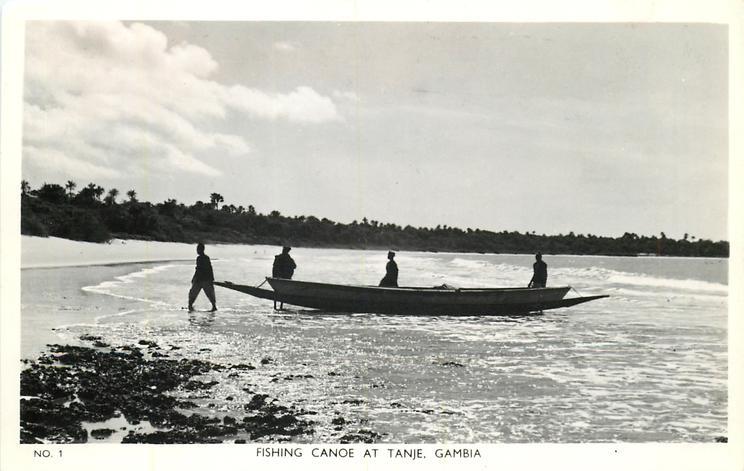FISHING CANOE AT TANJE, GAMBIA