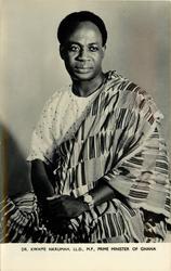 DR. KWAME NKRUMAH, LL.D., M.P., PRIME MINISTER OF GHANA