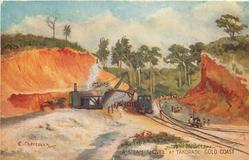A STEAM SHOVEL AT TAKORADI