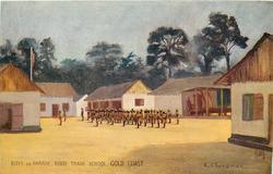 BOYS ON PARADE, KIBBI TRADE SCHOOL