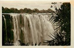 VICTORIA FALLS close up of main torrent