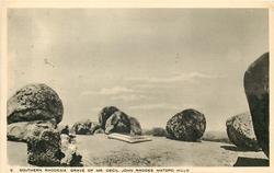 GRAVE OF MR. CECIL JOHN RHODES, MATOPO HILLS