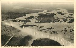 AERIAL PHOTOGRAPH OF VICTORIA FALLS