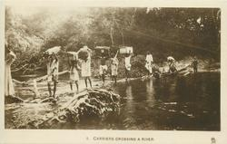 CARRIERS CROSSING A RIVER