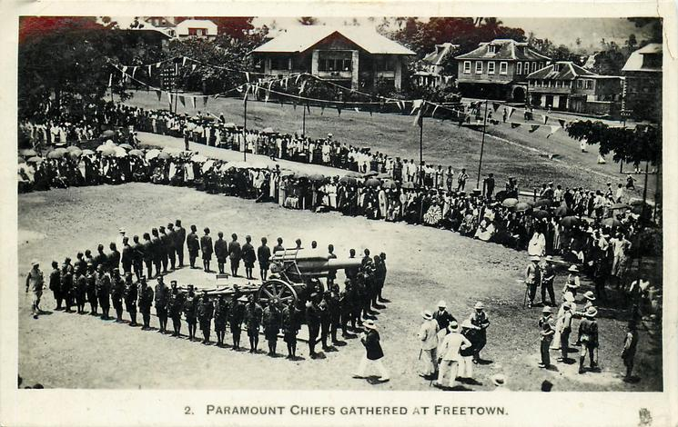 PARAMOUNT CHIEFS GATHERED AT FREETOWN