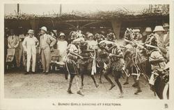 BUNDU GIRLS DANCING AT FREETOWN