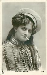 MISS JEAN AYLWIN  head & chest, in uniform, smoking cigarette