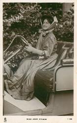 MISS JEAN AYLWIN  driving car