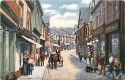 WITTON STREET (people walking along the street, horse drawn cart coming forward)