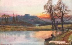 CARISBROOKE CASTLE, FROM NEWPORT, I.O.W.
