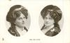 2 insets MISS JEAN AYLWIN  in Scottish attire, looking right/up in left inset