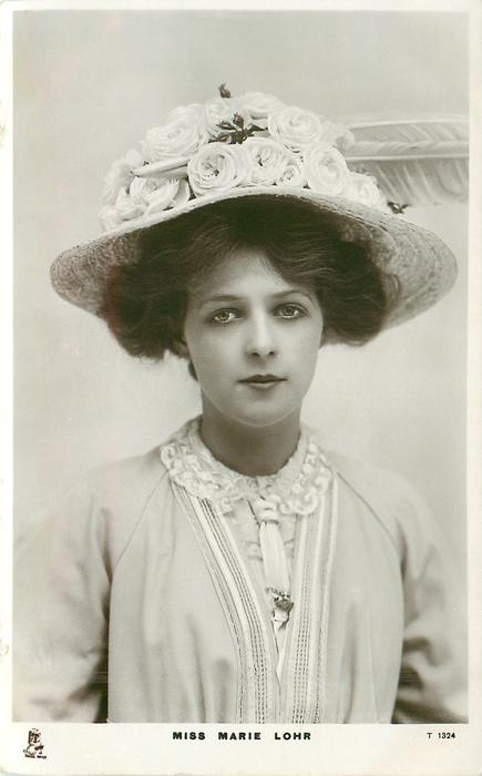 MISS MARIE LOHR  head & chest, looks front
