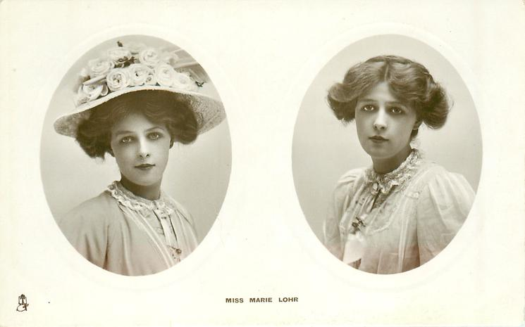 2 insets MISS MARIE LOHR