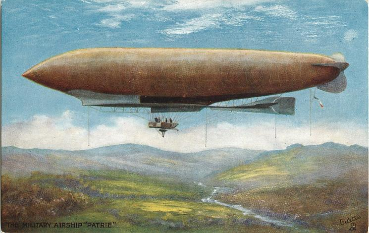 "THE MILITARY AIRSHIP ""PATRIE"""