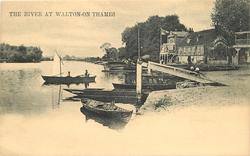 THE RIVER AT WALTON-ON-THAMES
