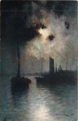 MOONLIGHT ON THE RIVER