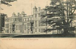 """""""AUDLEY END""""  ESSEX, SEAT OF LORD BRAYBROOK"""
