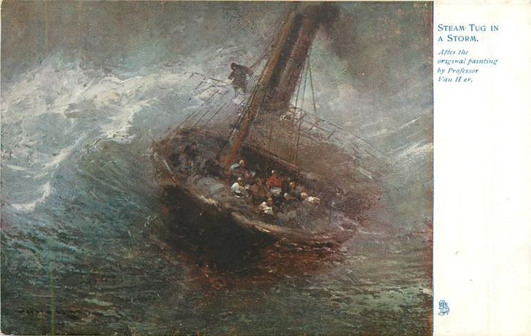 STEAM TUG IN A STORM