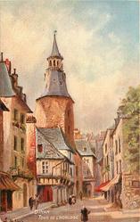 DINAN, TOUR DE L'HORLOGE