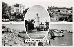 5 insets BLEAK HOUSE/KIRKGATE CASTLE/NORTH FORELAND LIGHTHOUSE/THE SANDS/LOUISA BAY