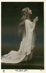 MISS MARIE LOHR AS 'MARGARET IN FAUST'  kneeling at prayer