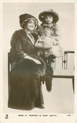 MISS E. TERRISS & BABY BETTY.
