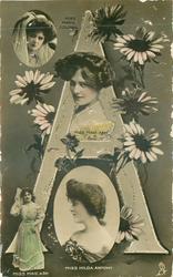 A, MISS MARIE ASHTON, MISS MAIE ASH(2), MISS HILDA ANTONY