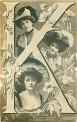 J, MISS INNES KERR, MISS OLGA KINGSTON, MISS MURIEL KENNEDY