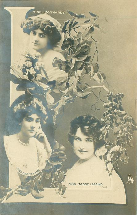 MISS (Enid) LEONHARDT, MISS GRACE LANE, MISS MADGE LESSING