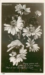 3 insets, GERTIE MILLAR, BILLIE BURKE, EDNA MAY