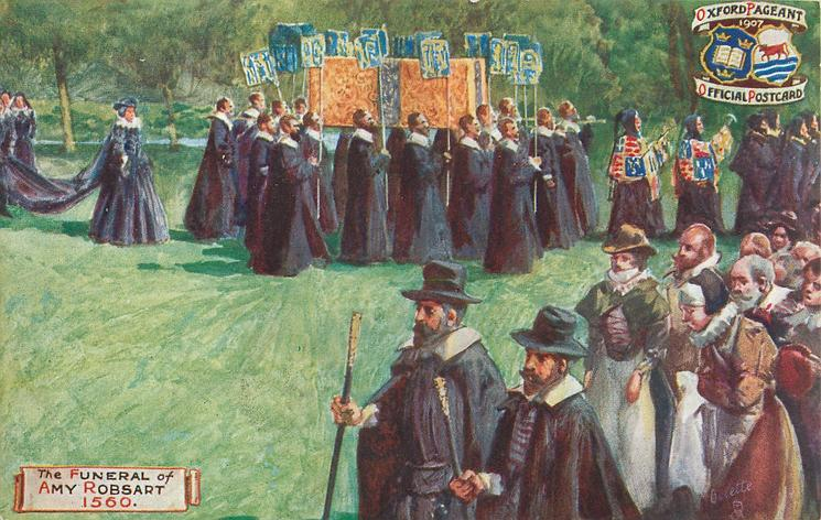 THE FUNERAL OF AMY ROBSART, 1560
