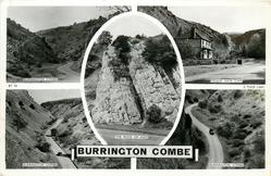 5 insets BURRINGTON COMBE/MENDIP GATE CAFE/THE ROCK OF AGES/BURRINGTON COMBE/BURRINGTON COMBE