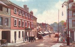BELL STREET  (cars to left on street, light to right)