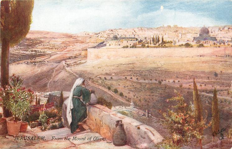 JERUSALEM. - FROM THE MOUNT OF OLIVES