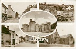 5 insets HIGH STREET/BANWELL VILLAGE/BANWELL CASTLE/BANWELL VILLAGE/BANWELL ABBEY