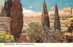 JERUSALEM. - THE GARDEN OF GETHSEMANE