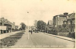 SHENLEY ROAD SHOWING ALL SAINTS' CHURCH