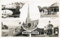 5 insets  BRIDGE AND WEST QUAY/BLAKE GARDENS/ST. MARY'S CHURCH/RIVER AND BRIDGE/CORNHILL