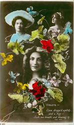 VIOLETS, 3 insets, MAUDE FEALY(2), GABRIELLE RAY, LOVE DROPP'D EYELIDS AND A KISS/BLUENESS IS