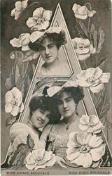 A, MISS GRACE ARUNDALE, MISS SYBIL ARUNDALE