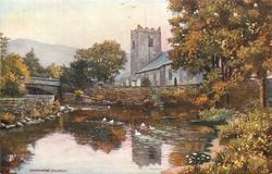 GRASMERE CHURCH (exterior of church, overlooking water with ducks)