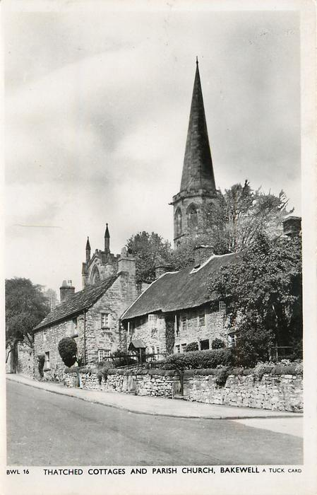 THATCHED COTTAGES AND PARISH CHURCH