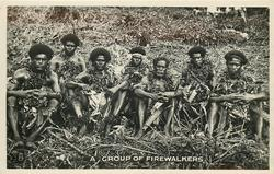 A GROUP OF FIREWALKERS