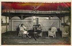 INTERIOR OF CHIEF'S HOME