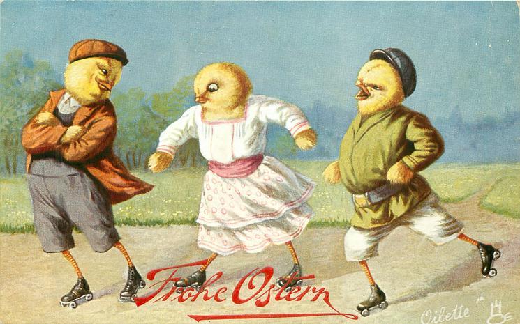 three chicks roller skate